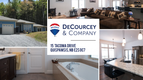 10 Ft Ceilings, Heat Pump – Just Like NEW! 15 Tacoma Dr., Quispamsis