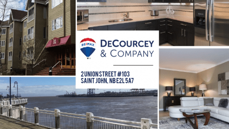 Spectacular Bay of Fundy Views! 2 Union St., #103, Saint John