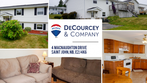 Beautiful Landscape, Updates, Bonus – Apartment Fully Furnished! 4 MacNaughton Dr., Saint John