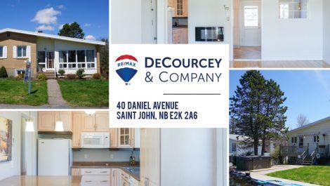 40 Daniel Ave., Saint John